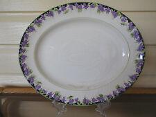 """Royal Doulton """"Violets"""" Large Platter H3747 England 1930s"""