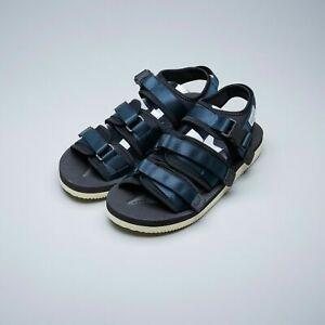 Suicoke OG-052V / GGA-V Navy Blue Vibram adjustable Nylon Tapes Sandals Slippers