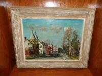 "Walter Emerson Baum ""Twin Gables""  Oil/Board Painting, Listed Artist (1884-1956)"