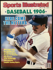 Wade Boogs Signed Sports Illustrated 4/14/86 No Label Red Sox Baseball Auto JSA