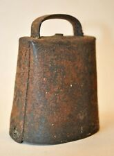 Antique Metal Goat or Calf Bell, Primitive Blacksmith Hand Forged and Riveted