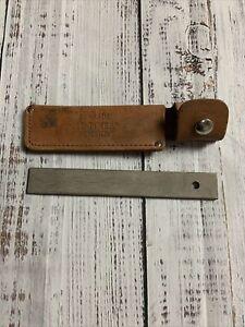 Vintage Knife Hone Steel SCHRADE HS-1 OLD TIMER knife sharpener sheath honing