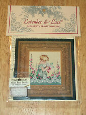 Lavender & Lace 49 EMMA'S GARDEN Counted Cross Stitch Pattern and required Beads