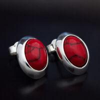 Koralle Silber 925 Ohrringe Damen Schmuck Sterlingsilber S252