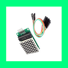 MAX7219 Dot matrix module Drive MCU control LED Display 5V RED fr Arduino +Cable