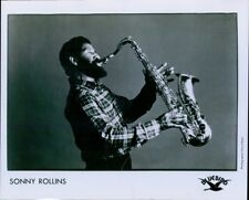 LG495 1980s Original Photo SONNY ROLLINS American Jazz Tenor Saxophonist