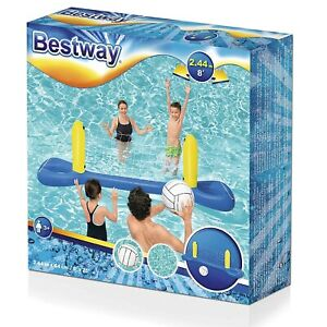 Bestway Inflatable Volley Ball Swimming Pool Net & Ball Water Game Kids