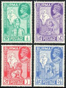 BURMA 1946 SG64-67 KGVI VICTORY  -  MNH
