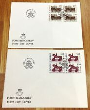 Norway Post FDC 1987.06.10. Centenary Sandvig Collections - Block of Four