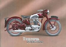 1949 Triumph Speed Twin 500cc motorcycle poster