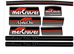 MERCRUISER  MOST COMPLETE ALPHA ONE GEN ONE W/GRAY RAMS STICKER SET
