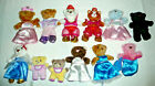 LOT 12 SPIN MASTERS FLUFFY LIL LUVABLES BEARS CATS W/ CLOTHES
