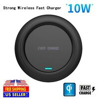 10W Qi Wireless Charger Pad Charging Dock Station for iPhone 11 XS Max X Galaxy