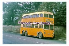 gw0555 - Newcastle Trolleybus reg no NBB 620 at Denton in 1966 - photograph