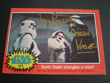 More details for star wars topps red a card #45a signed by dave prowse darth vader w/ exact proof