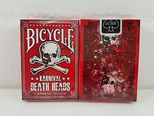 "Gioco di carte Bicycle ""Karnival Death testa"" Carnage Edition Deck POKER NUOVO"