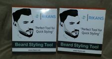 2 lot Rikans Beard comb styling and shaping tool template, perfect lines& symmet