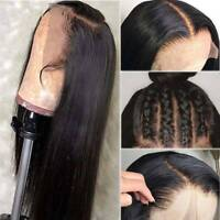 Deluxe Silky Straight Human Hair Wigs 100% Brazilian Natural Lace Front Wigs C40