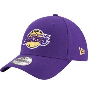 New Era 9FORTY Los Angeles LA Lakers NBA Basketball Baseball Cap Hat - Purple