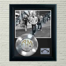 "Police ""Roxanne"" Silver Framed Record Display"