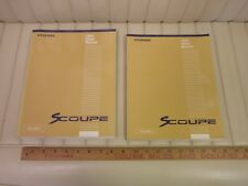 1994 HYUNDAI SCOUPE Factory Shop Service Manual Set 2-Volume