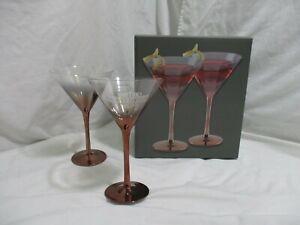 HARLEY-DAVIDSON COPPER OMBRE BAR & SHIELD MARTINI GLASS SET, HDX-98716