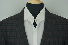 Saks Fifth Avenue BRAND NEW Gray Plaid Wool Unstructured Light Sport Coat Sz 42