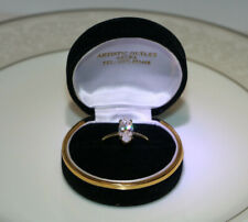 Ring Marquee Cut 1 Carat + Beautiful Solid14K Gold Cz Solitaire Engagement