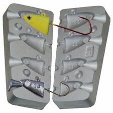 Fish Head Jig Fishing Lure lead Mold 14-16-24-32gr VMC Jig Hooks 5150 # 1/0-4/0