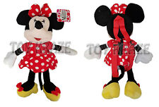 """MINNIE MOUSE PLUSH BACKPACK! RED DRESS DOLL FIGURE STUFFED TOY DISNEY 18"""" NWT"""