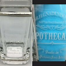 BELLA LUX Dr H Gnadendorff Apothecary Glass Toothbrush Holder Silver Frosted NEW