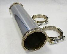 "OBX Exhaust Universal 14"" Long st. 2.5"" ID Modular Downpipe  3.75"" V-band Flange"