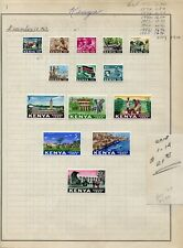 Weeda Kenya 1-14 VF MH 1963 Kenya Pictorial CV $21.85