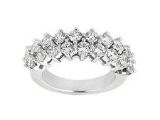 3.20ct Diamond Wedding Band Ring 10k White Gold Round Cut Prong Setting GH I1