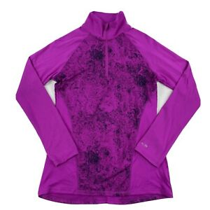 Champion Womens DuoDry 1/4 Zip Pullover Purple/Black Size XS