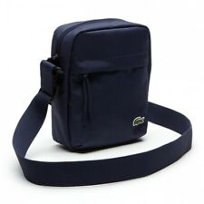 Lacoste 2019 Navy Neocroc Canvas Camera/All Purpose Shoulder Bag - New W/Tags