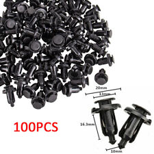 100 Bumper Clips 10mm Hood Fender Push Rivets Retainer Fasteners for Honda Acura