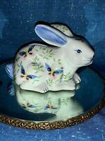 ANDREA by SADEK Rabbit Bunny Butterfly & Floral Piggy Bank UNIQUE 4/7 ❤️sj3j