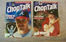 Chop Talk Atlanta Braves Magazines November & December 1994 Greg Maddux Santa