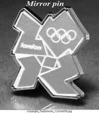 OLYMPIC PINS 2012 LONDON ENGLAND UK MIRROR CUT OUT PIN MIRRORED RARE