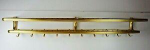 Große Alu Garderobe mit Hutablage Gold Eloxiert 10 Haken Geflecht 125cm Pro-1392