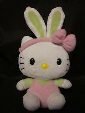 "HELLO KITTY SANRIO Plush Ty Beanie Easter Spring Bunny Free US Shipping 2011 9"""