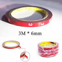 3M Genuine Double Face Foam Sided Tape (Automotive Grade) 6mm 3 Meters for Visor