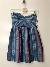 Roxy Women's Dress Fall Doll Tube Stripes Strapless Small