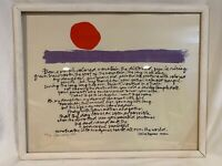 ORIGINAL 1987 ARTIST SIGNED & Numbered Serigraph? Poetry by Akira Togawa  c679