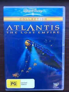 Atlantis : The Lost Empire - Region 4 DVD - Great Condition - FREE POST