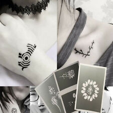 2PCS TATTOO KIT Stencil Drawing Template Boy Girl Body Henna Temporary Sticker