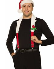 Christmas Suspenders With Collar Mens Adult Holiday Accessory Set