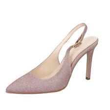 scarpe donna OLGA RUBINI 37 EU decolte rosa tessuto BY284-37