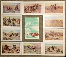 Frontier Days Circa 1950s Charles M Russell 10 Western Print Portfolio Complete
